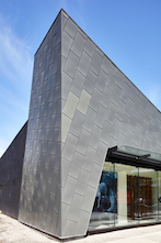 Arc'teryx's Vancouver store features RHEINZINK zinc panels - photo by Martin Knowles