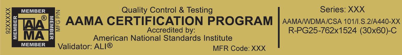 aama label certification windows brochure offers