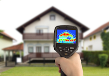 Heat loss detection of house with infrared thermal camera