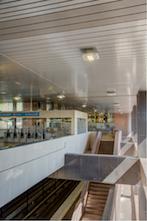 MARTA Inman Park/Reynoldstown station - photo by Abstract Photography, courtesy of Rockfon